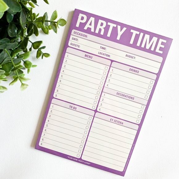 Knock Knock Other - NWT Knock Knock Purple Party Time Note Pad